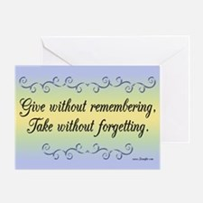 Give Without Remembering Thank You Card