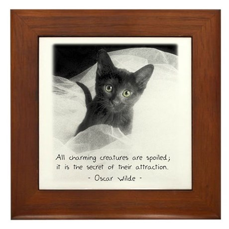 Spoiled Kitten-And-Quote Framed Tile