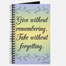 Give Without Remembering Journal