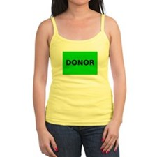 Cute Donate life Jr.Spaghetti Strap