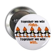 "Winter Penguin 5 (Orange) 2.25"" Button"