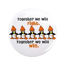 "Winter Penguin 5 (Orange) 3.5"" Button"