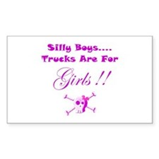Trucks are for Girls Decal