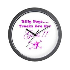 Trucks are for Girls Wall Clock