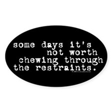 Restraints Oval Decal