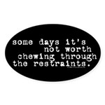 Restraints Oval Sticker