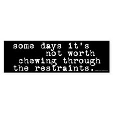 Restraints Bumper Bumper Sticker
