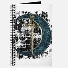 Grunge Celtic Moon and Sword Journal