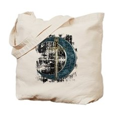 Grunge Celtic Moon and Sword Tote Bag