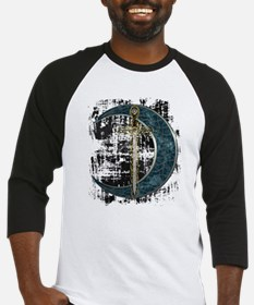 Grunge Celtic Moon and Sword Baseball Jersey
