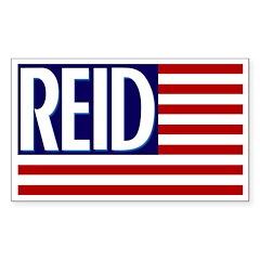 Harry Reid American Flag bumper sticker