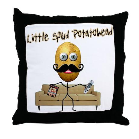 Little Spud Potatohead Throw Pillow