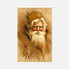Old World Santa Claus Rectangle Decal
