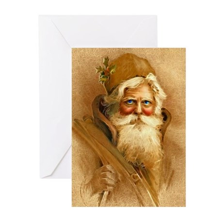 Old World Santa Claus Greeting Cards (Pk of 10)