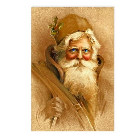Old World Santa Claus Postcards (Package of 8)