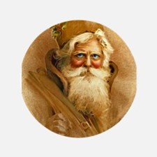 "Old World Santa Claus 3.5"" Button"