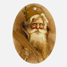 Old World Santa Claus Oval Ornament