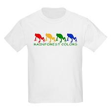 Rainforest Frogs 1 2-sided Kids T-Shirt