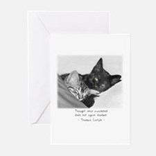 Cats-And-Quotes #11 Greeting Cards (Pk of 10)