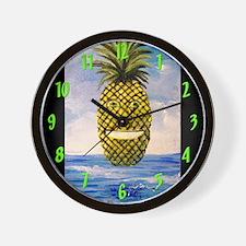 Smiling Pineapple Wall Clock