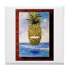 Smiling Pineapple Tile Coaster