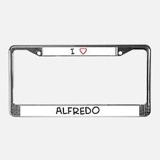 I love Alfredo License Plate Frame