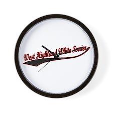 West Highland White Terrier V Wall Clock
