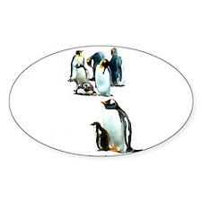 King & Gentoo Penguins - Oval Decal