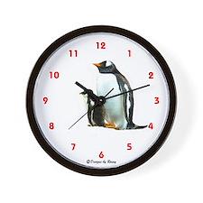 Gentoo Penguins - Wall Clock