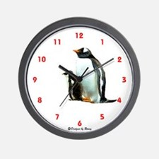 Gentoo Penguins - Wall Clock