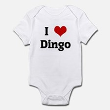 I Love Dingo Infant Bodysuit