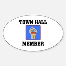 PEACEFUL MOB MEMBER Oval Decal