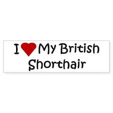 British Shorthair Bumper Bumper Sticker