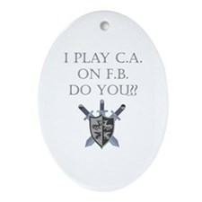 CA on FB Oval Ornament
