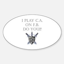 CA on FB Oval Decal
