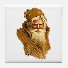 Old World Santa Claus Tile Coaster
