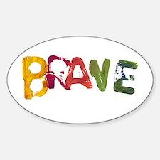 BRAVE Oval Sticker (10 pk)