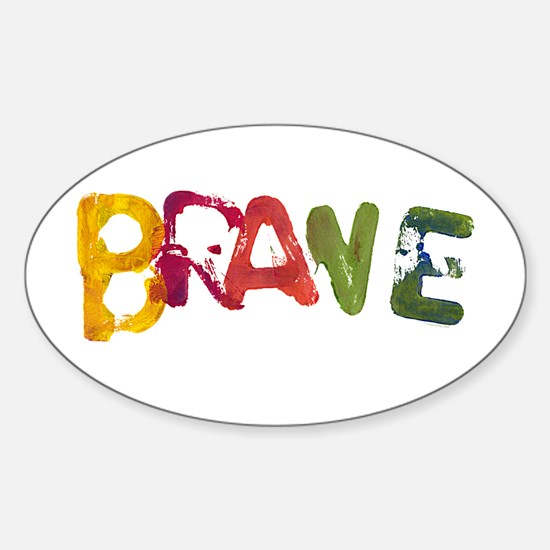 BRAVE Oval Decal