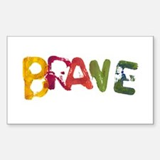 BRAVE Rectangle Decal