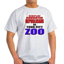 Republican Zoo Jail Ash Grey T-Shirt