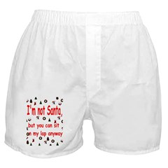 Santa's Lap Boxer Shorts