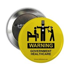 "Healthcare Warning 2.25"" Button"