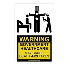 Healthcare Warning Postcards (Package of 8)