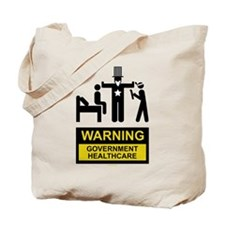 Healthcare Warning Tote Bag