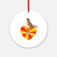 Robin Ornament (Round)