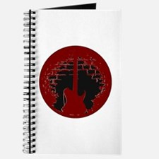 Red-Black Electric Guitar Silhoutte Journal