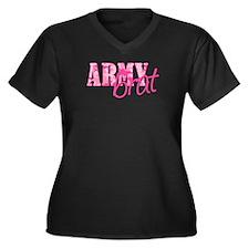 Army Brat Women's Plus Size V-Neck Dark T-Shirt