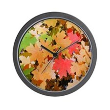 Fall Colors Leaves Wall Clock