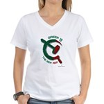 Green is the New Red Women's V-Neck T-Shirt
