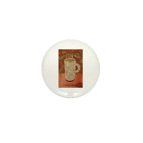 Cappuccino mug Mini Button (100 pack)
